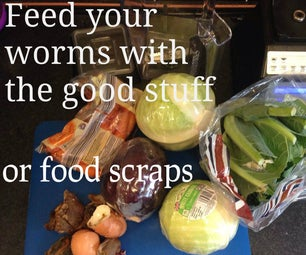 Make Worm Food for Your Wormery
