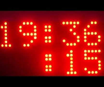 Arduino Real Time Clock Using  DS3231 and P10 Display Matrix
