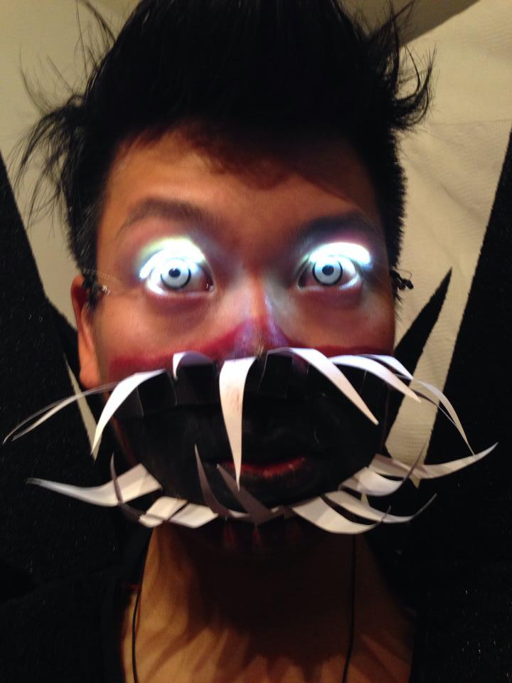Make wearable LED eyelashes