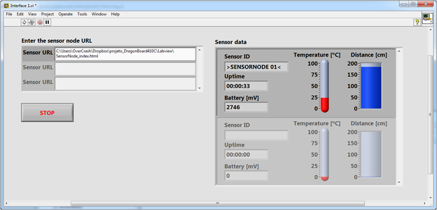 Run Interface Program Made in LabVIEW