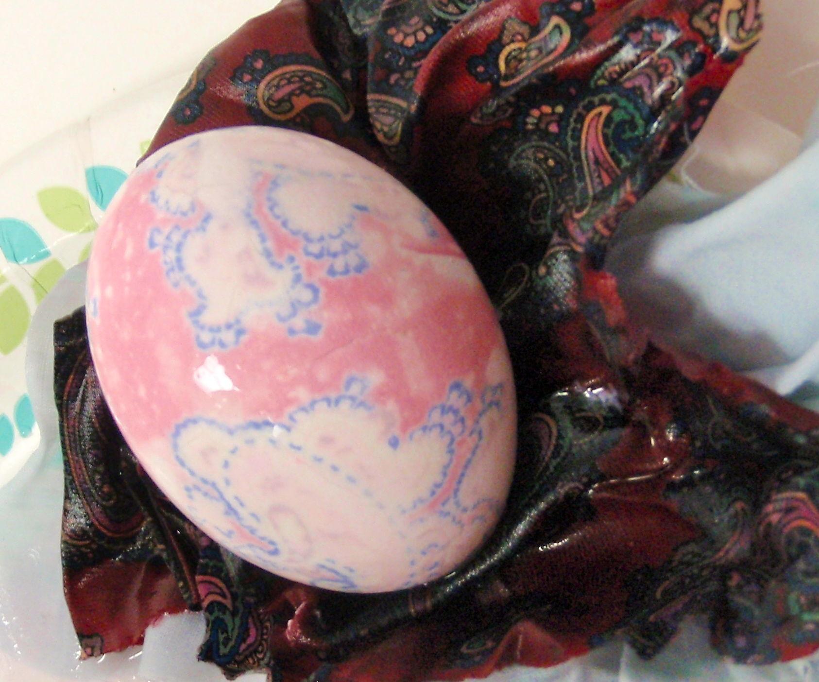 Necktie-silk Dyed Easter Eggs