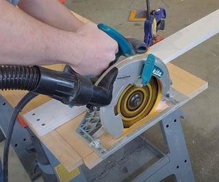Quick Cheap Circular Saw Guide Rail   Cheap Track Saw DIY!