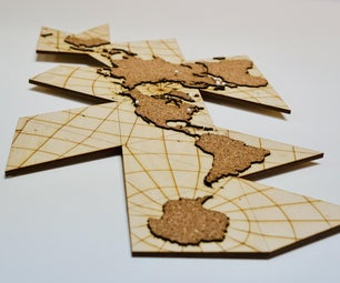 Dymaxion Wall Map