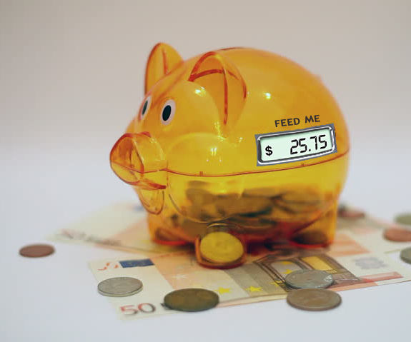 Piggy Bank Coin Counter