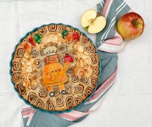 肉桂壳奶油奶酪苹果饼