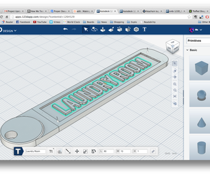 Making a Customizable Key Tag Using 123D Design Online