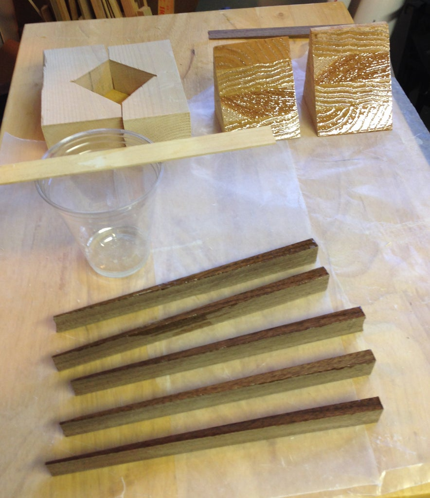 Make the Leave Stems and Glue Together the Leaf-Cube