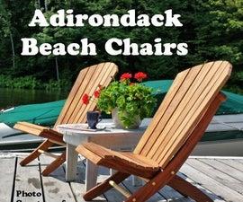 Adirondack Beach Chair W/ 2 Positions