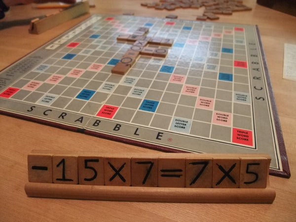 Number Scrabble - the Game (aka: Math Scrabble)
