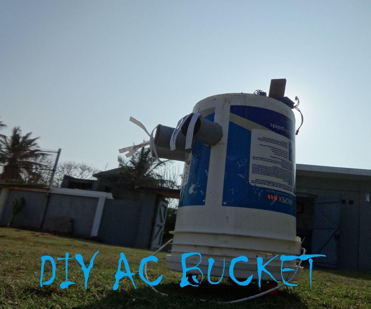 DIY bucket air conditioner with smartphone control