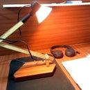 Desk Lamp Using Scrap Wood