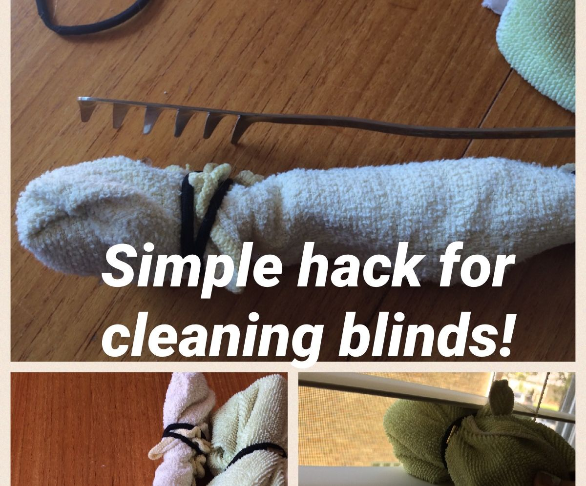 Cleaning Blinds Hack
