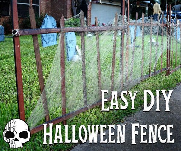 Easy Halloween Cemetery Fence