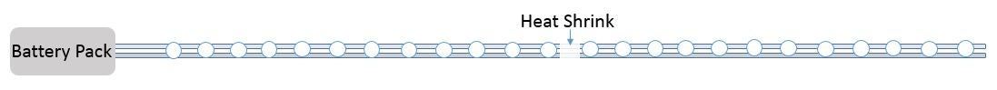 Connect the Two LED Strands Together in Series