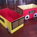 Duct Tape & Diaper Box Fire Engine