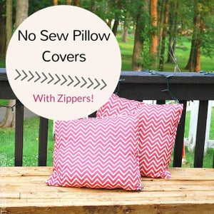 No Sew Pillow Cover With Zipper
