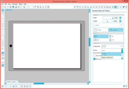 Configure Silhouette Studio for Portrait
