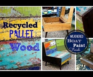 Faux Boat Wood Paint Finish and Pallet Wood Chair