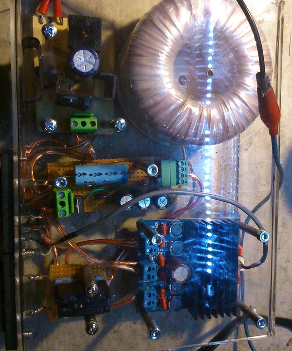 Plexi-glass Box 4 Home Audio Amplifier With Power Supplay