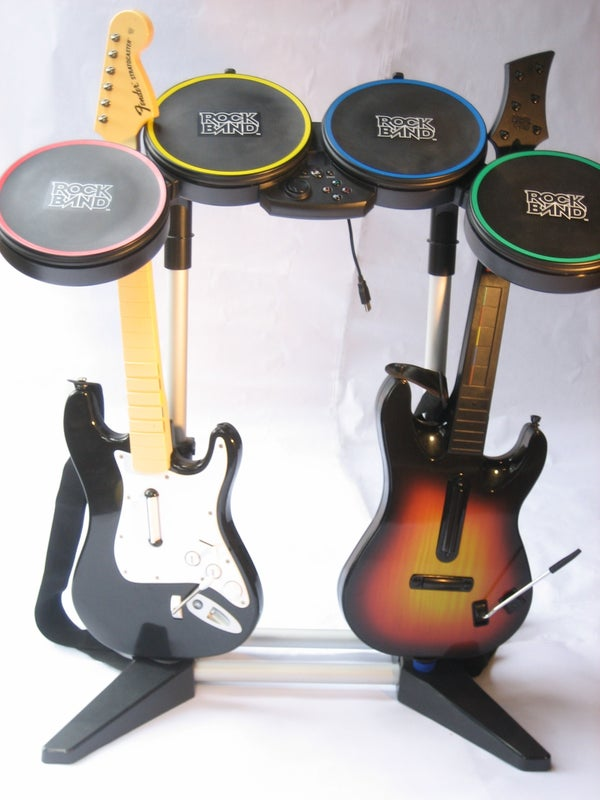 Rack Your Axe: a Low Cost Guitar Stand for Rock Band