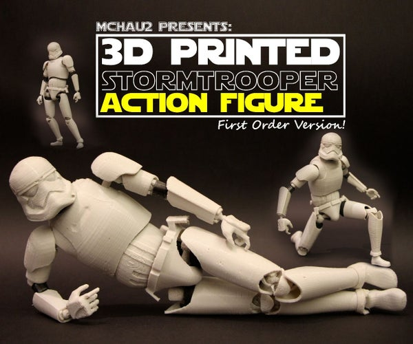3D Printed StormTrooper Action Figure! (Realistic Articulation)