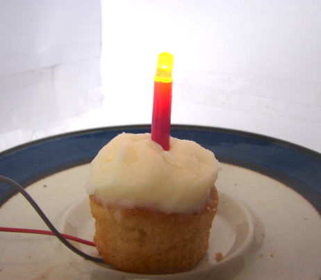 An LED You Can Blow Out Like a Candle!