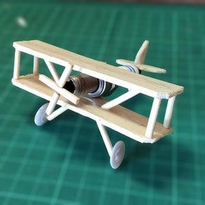 Recycled Spark-plug Biplane