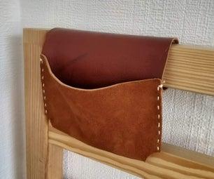 Leather Scrap Bedside Pocket