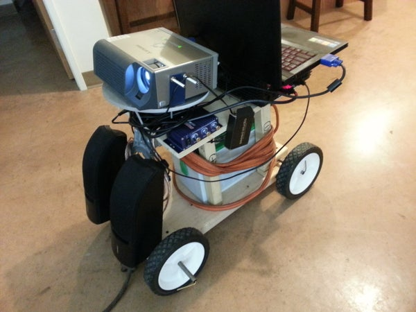 Portable Outdoor Projection Cart
