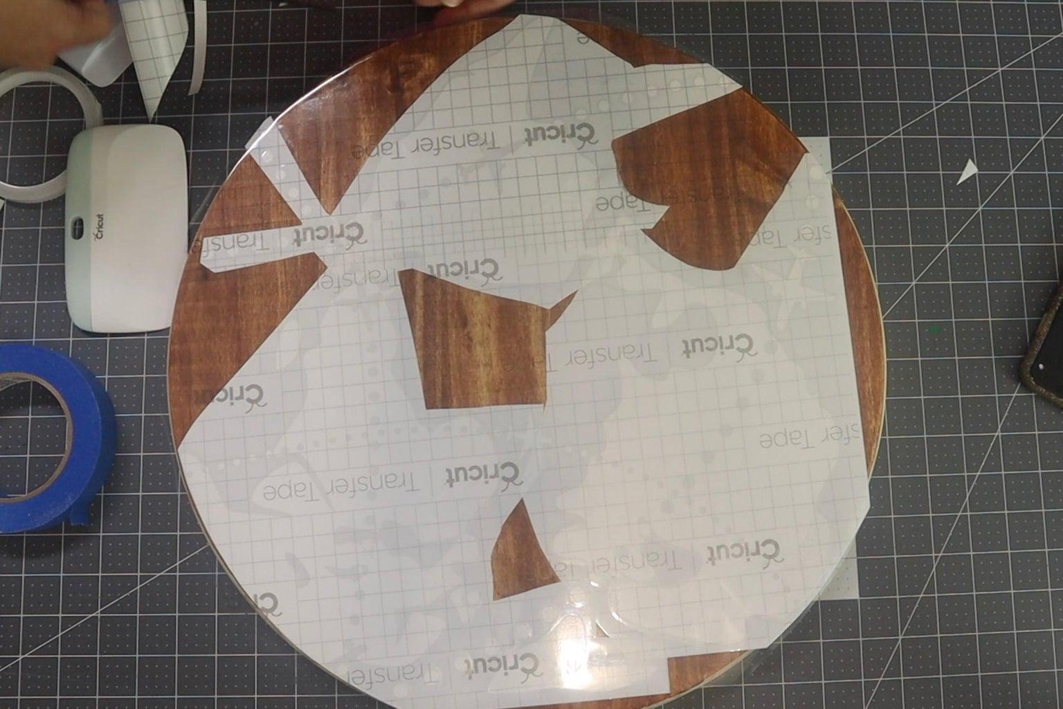 Apply Vinyl Graphic to Wood Round