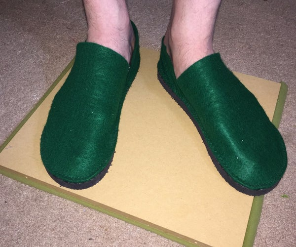 Felt Costume Shoes With Heavy Sole