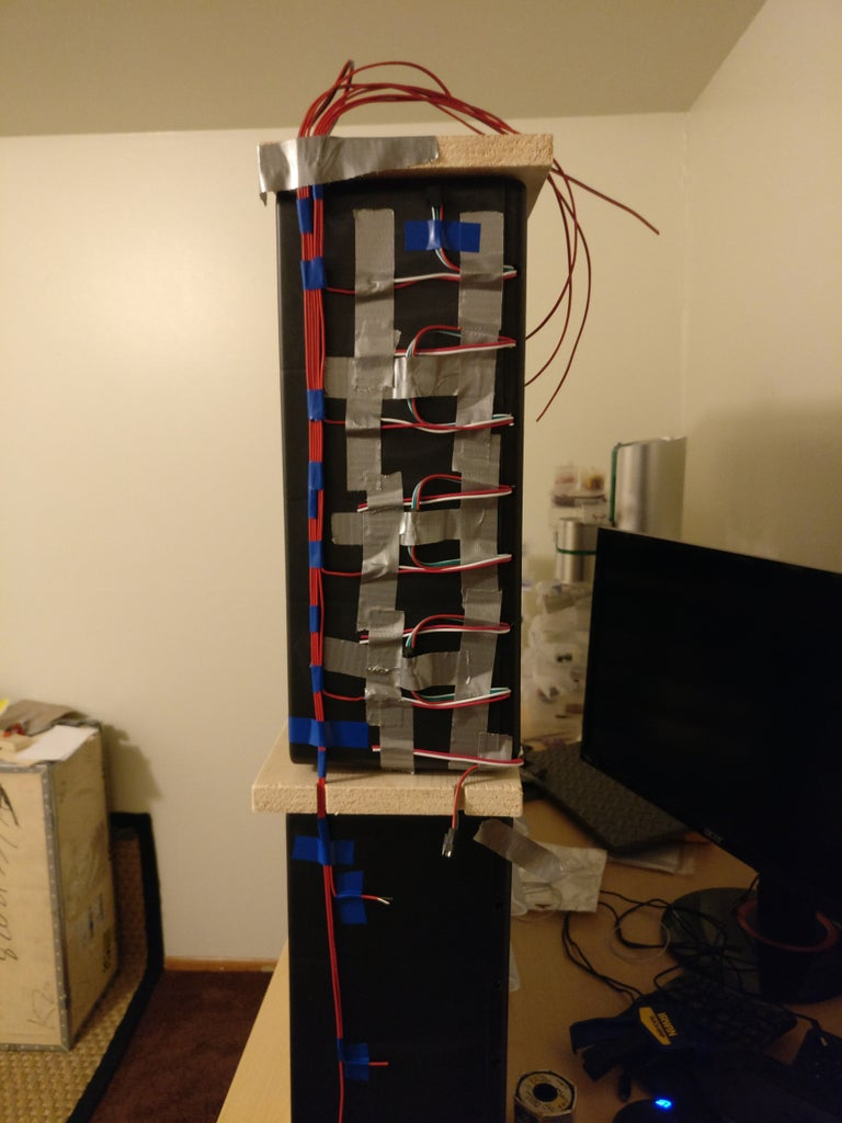 Construction - Install the LED Strip Power Wires