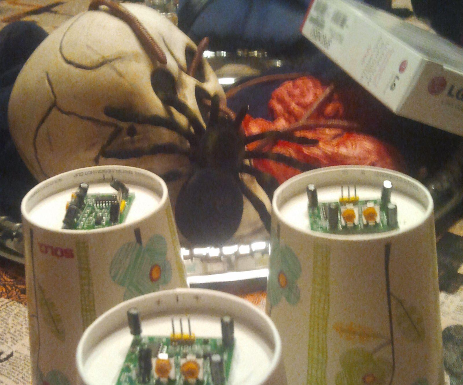 Sensors Trigger Halloween WAV Files