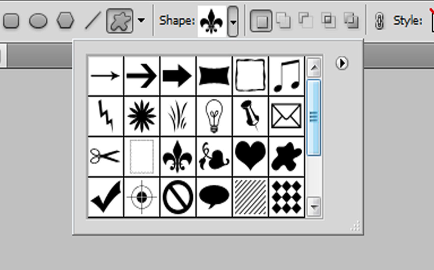 Creating a Custom Shape in Photoshop