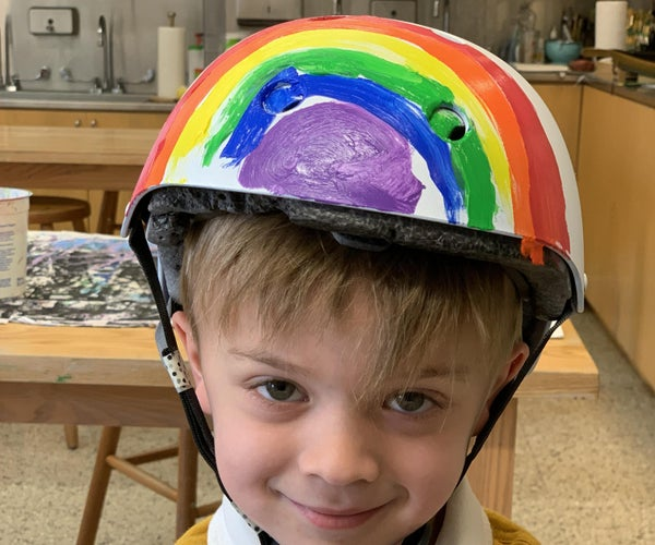 Revived Rainbow Scooter Helmet