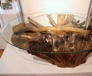 Kintsugi Style Stump Coffee Table