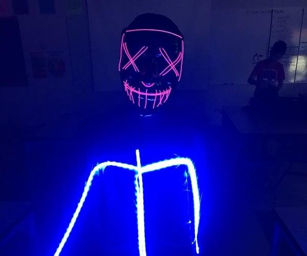 DIY LED Glow in the Dark Stickman Costume