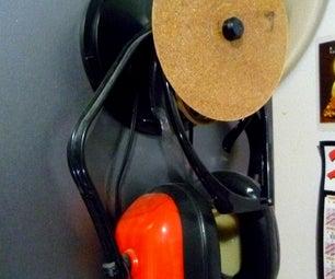 CD Spool As Side-of-bookshelf Storage!