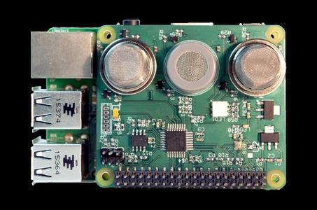 Sensly Hat for the Raspberry Pi Air Quality & Gas Detector V0.9
