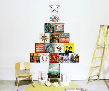 Vinyl Record Holiday Tree