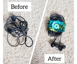 Crochet Earbud Organizer