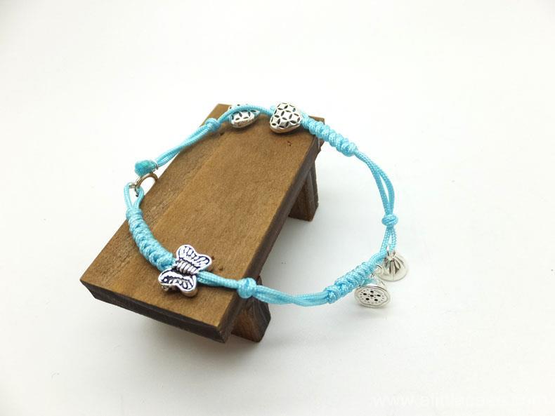 Valentine crafts - handcraft sterling silver braided bracelet & anklet