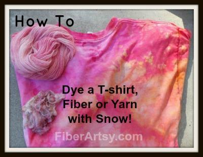 Snow Dyeing! Dye Tshirt, Fiber or Yarn with Snow