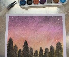 如何画水彩