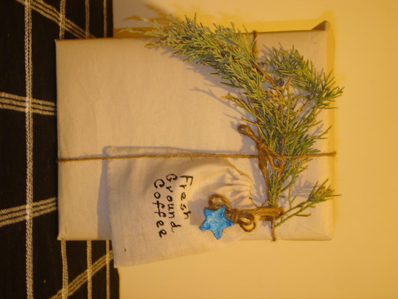 Coffee Bag Gift Embellishment