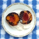 Grilled Peaches and Whipped Cream