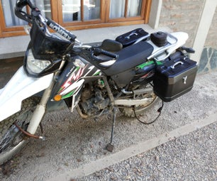 Motorcycle Panniers From Disposable Plastic Container