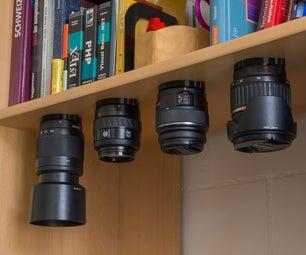 Lens Mount Bracket for Overhead Storage