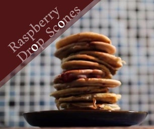 Raspberry Drop Scones