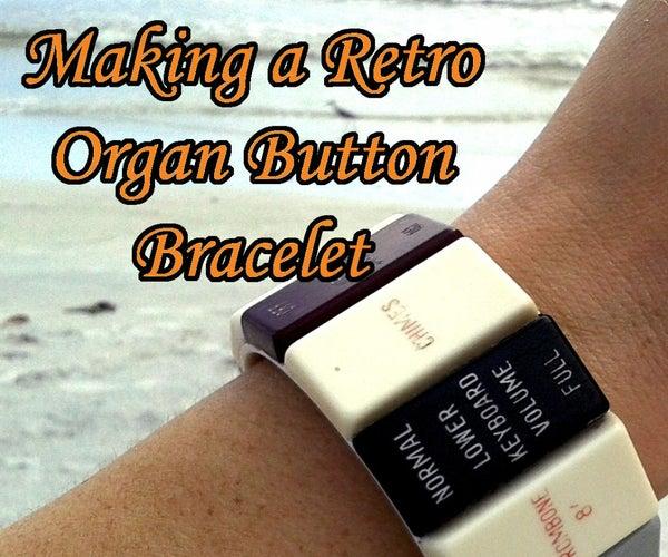 Making a Retro Organ Button Bracelet- the Organ Donor Project Part 4